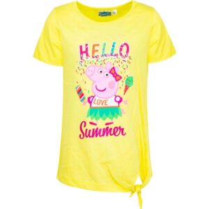 Peppa Gris t-skjorte Hello summer gul