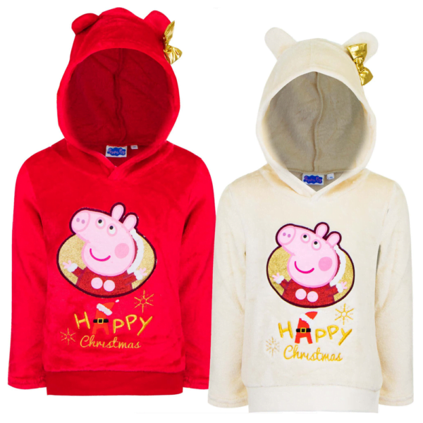 Peppa Gris hettegenser Happy Christmas