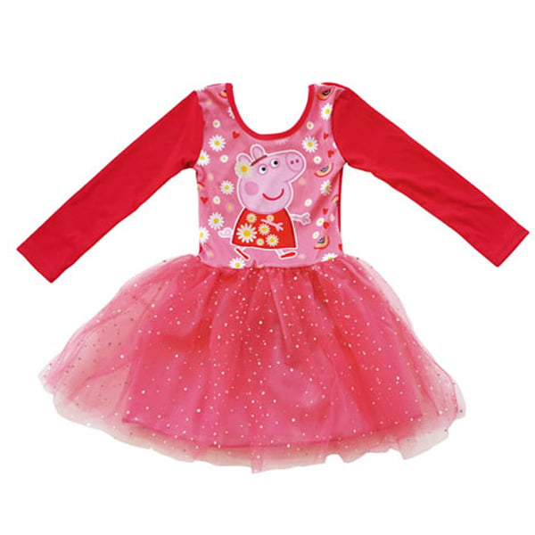 Peppa Gris kjole med glitterskjørt