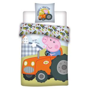 Peppa Gris sengesett Georg på traktor