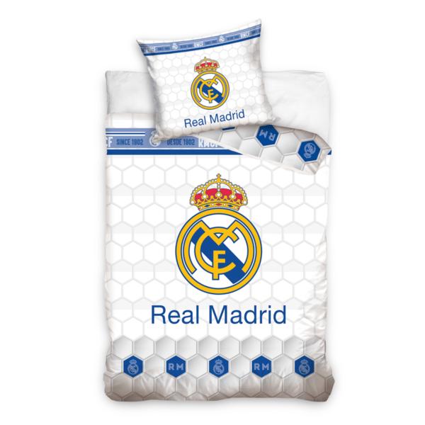 Real Madrid sengesett blå og hvit