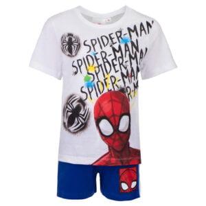 Spiderman sett hvit blå