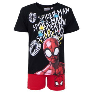 Spiderman sett svart rød