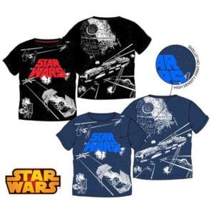Star Wars t-skjorter blå og svart