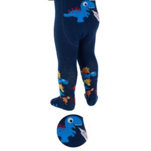 Strømpebukse dinosaur mørkeblå