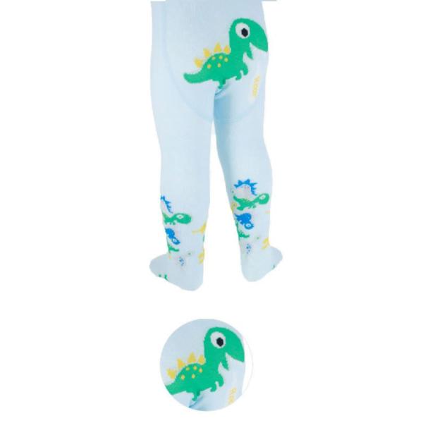 Strømpebukse dinosaur lyseblå