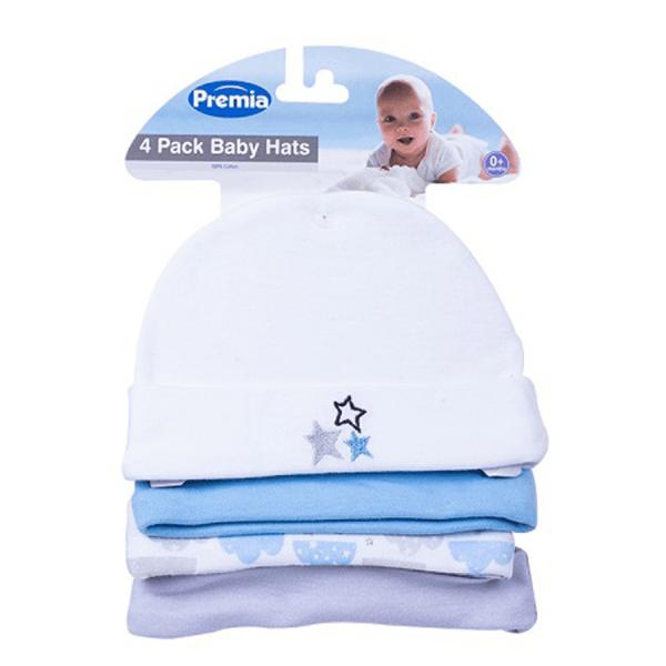 Babylue stjerner 4 pakning blå