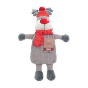 Varmeflaske reinsdyr med rød lue